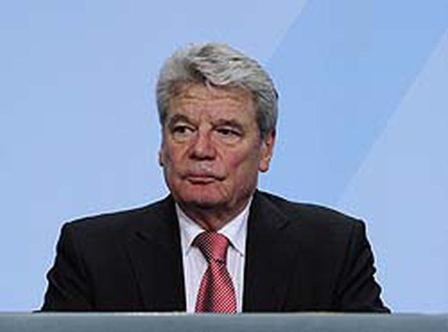 Former East German rights activist Joachim Gauck. AFP PHOTO / JOHN MACDOUGALL