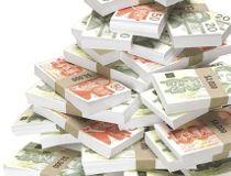 Stack of cash bills money currency
