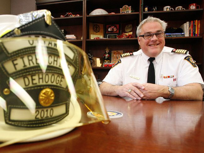 Fire Chief John deHooge