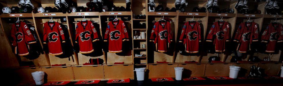 Calgary Flames Dressing Room