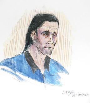 Alleged terrorist Sayfildin Tahir-Sharif. (COURT SKETCH)
