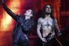 Jane's Addiction singer Perry Farrell, left, and guitarist Dave Navarro played Massey Hall, Feb. 27, 2012. (Michael Peake/QMI Agency)