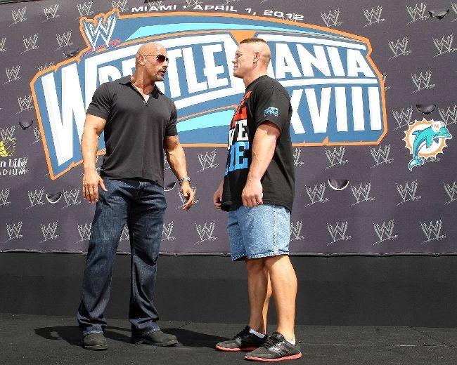 John Cena and Dwayne 'The Rock' Johnson