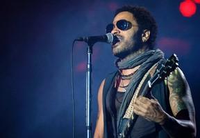 Lenny Kravitz performs at Rock In Rio in Arganda del Rey, Spain, June 30, 2012. (Sean Thorton/WENN.COM)