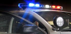 Police cruiser lights