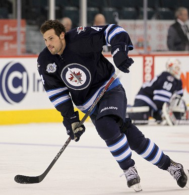 Bogosian will be out for several months following wrist surgery. (BRIAN DONOGH/Winnipeg Sun)