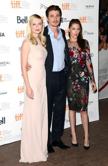 "Actors Kirsten Dunst, Garrett Hedlund, and Kristen Stewart attend the ""On The Road"" premiere during the 2012 Toronto International Film Festival on September 6, 2012 in Toronto, Canada.   (Jason Merritt/AFP)"