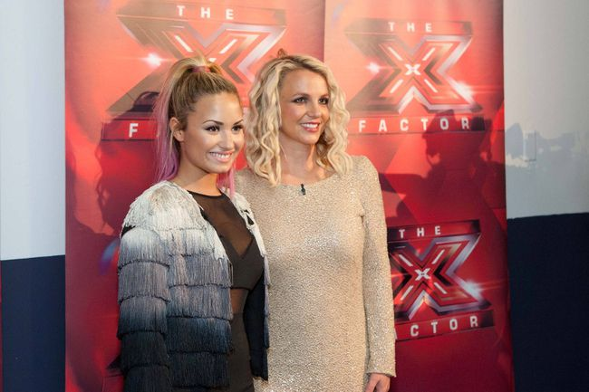 "Demi Lovato and Britney Spears (<A HREF=""http://www.wenn.com"" TARGET=""newwindow"">WENN.COM</a>)"