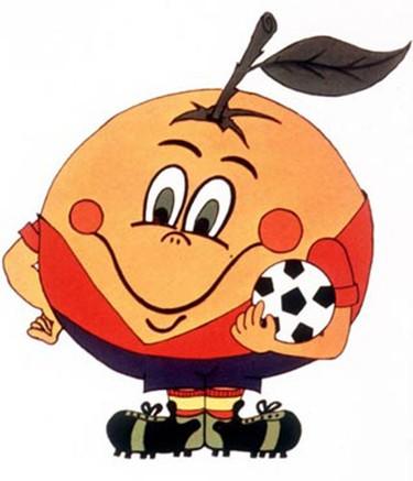 WORLD CUP: 1982 Spain, MASCOT: NARANJITO (orange)