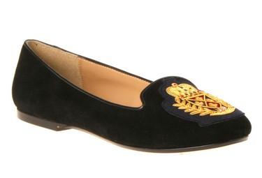 "Black ""smoking slippers"" (Nine West, $110, Style: Panto, ninewest.ca) are a key seasonal trend.  (Supplied)"