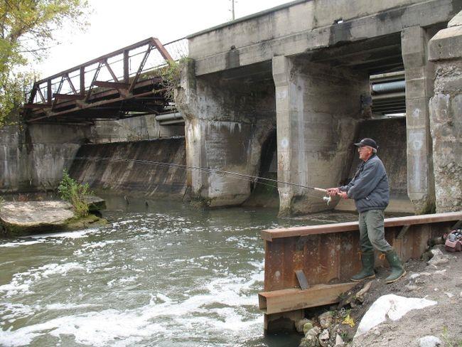 Misner Dam in Port Dover. (File photo)