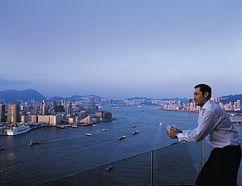View at the Four Seasons Hotel Hong Kong. (Courtesy Four Seasons Hotels & Resorts)