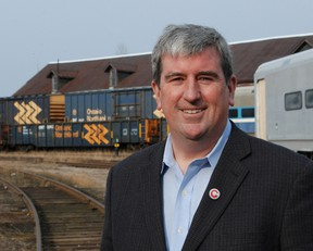 Ontario Liberal leadership candidate Glen Murray was in North Bay Nov. 18.