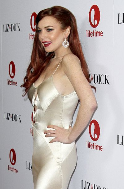 "Lindsay Lohan at the premiere of 'Liz & Dick' at the Beverly Hills Hotel in Beverly Hills, California, November 20, 2012. (Apega/<A HREF=""http://www.wenn.com"" TARGET=""newwindow"">WENN.COM</a>)"