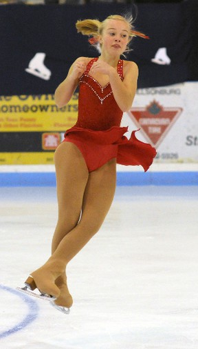 Alexandra Klunder from Paris FSC competed in the StarSkate Junior Bronze (Flight 4) event at the 2012 WOS John McKay Memorial Invitational Competition in Tillsonburg on Sunday, Nov. 26, 2012. CHRIS ABBOTT/QMI AGENCY