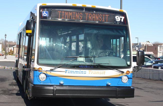 Timmins Transit bus
