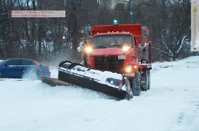 A snowplow clears a Sudbury street. John Lappa, The Sudbury Star