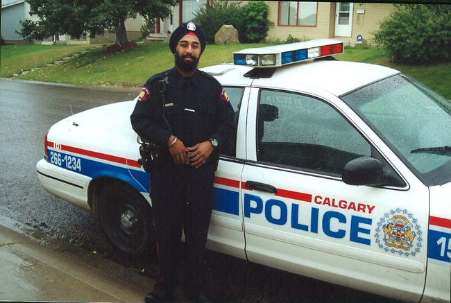 Calgary police officer Det. Jasbir Kainth turban