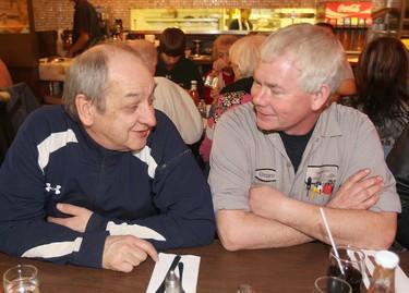 C. Kelekis Restaurant customers Roy Rudacher (l) and Grant Friesen talk about the restaurant in Winnipeg, Man.  Tuesday Jan. 29, 2013. The restaurant will close Wednesday. BRIAN DONOGH/WINNIPEG SUN/QMI AGENCY