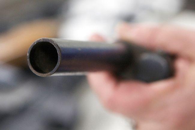 A sawed off shotgun.
