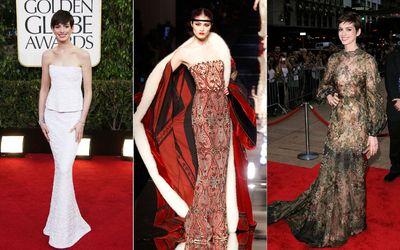 "<b> Star:</b> Anne Hathaway  <br><b> Style notes:</b> Opulent, whimsical.      <br><b>Dress pick:</b>  Jean Paul Gaultier fall/winter 2012-2013 <div id=""pd_rating_holder_6603496""></div> <script type=""text/javascript""> PDRTJS_settings_6603496 = { ""id"" : ""6603496"", ""unique_id"" : ""default"", ""title"" : """", ""permalink"" : """" }; </script> <script type=""text/javascript"" src=""http://i.polldaddy.com/ratings/rating.js""></script>       <br> (<a href=""http://www.wenn.com/"" target=""newwindow"">WENN.com</a>, REUTERS/Benoit Tessier)"