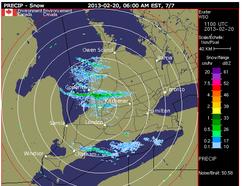 Environment Canada weather radar image. QMI AGENCY FILE