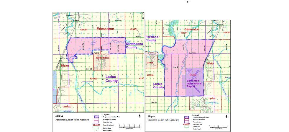 Edmonton moves to annex massive swaths of Leduc Co Devon Dispatch