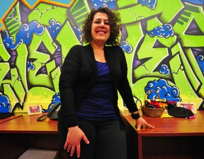 YOUCAN Edmonton program manager Mandy Halabi poses at the YOUCAN offices (11124 130 Street). Trevor  Robb/QMI Agency