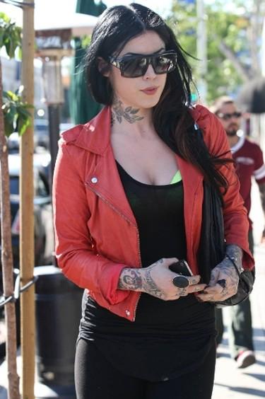 "Leather biker jackets are part of Kat Von D's look. (YNF/WENN.COM)  PDRTJS_settings_6820739 = { ""id"" : ""6820739"", ""unique_id"" : ""default"", ""title"" : """", ""permalink"" : """" };"