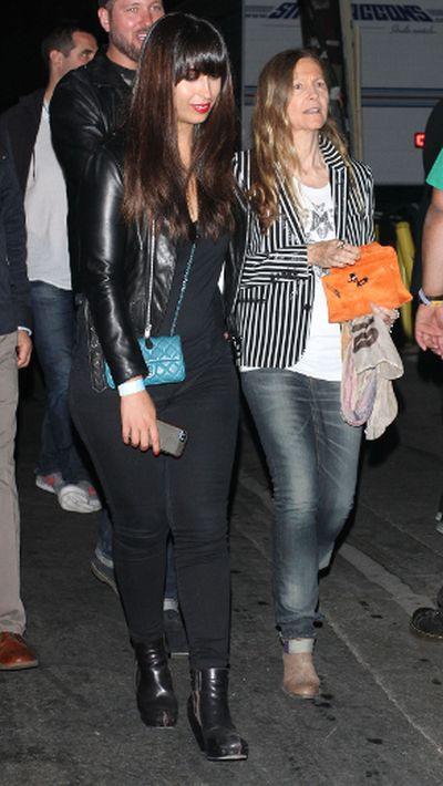 "Celebrities leave the Echoplex in Hollywood after watching the Rolling Stones in concert (Cheryl Burke), April 27, 2013. (Greg Tidwell/<A HREF=""http://www.wenn.com"" TARGET=""newwindow"">WENN.COM</a>)"