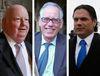 A composite image of Senators Mike Duffy (REUTERS/Chris Wattie), Mac Harb (ANDRE FORGET/QMI Agency) and Patrick Brazeau (REUTERS/Chris Wattie).