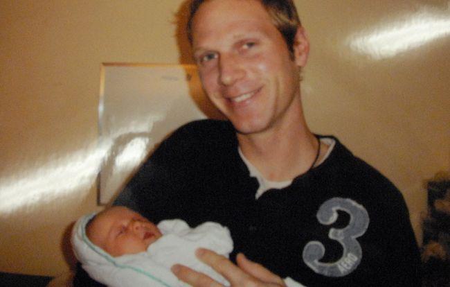Tim Bosma with his daughter. (Photo courtesy the Bosma family)