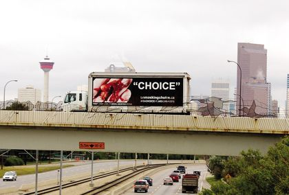 Pro life anti-abortion ad on truck