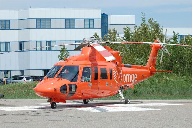Ornge Sikorsky S76 air ambulance helicopter. (Len Gillis/QMI Agency)