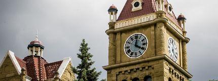 Old city hall clock tower flood 2013