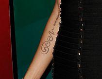 A close-up of Klum's Seal tattoo. (WENN)