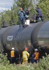 Aftermath of the Lac-Megantic train derailment disaster. Photo taken July 11, 2013. (DANIEL MALLARD/QMI Agency)