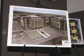 Original concept art for the Lofts and Landings condominium development, as presented in June of 2012.