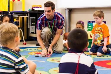 Justin Laneville is a first year teacher working with kindergarten age students at the Ecole Elementaire Publique Kanata. August 30,2013. Errol McGihon/Ottawa Sun/QMI Agency