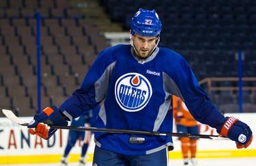 Boyd Gordon during Edmonton Oilers training camp at Rexall Place in Edmonton, Alta., on Monday, Sept. 16, 2013. Codie McLachlan/Edmonton Sun/QMI Agency