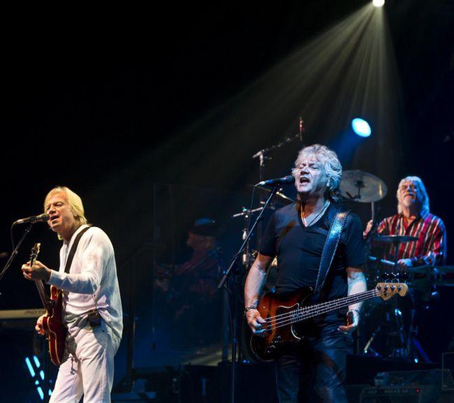 The Moody Blues Justin Hayward (L), John Lodge, and Graeme Edge performing at Scotiabank Place. Thursday September 22,2011. (ERROL MCGIHON/QMI AGENCY)
