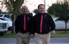Darren Black Bear (L) and Jason Pickel arrive to be married by Darren's father Rev. Floyd Black Bear in El Reno, Okla.,October 31, 2013.