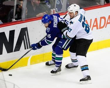 t-10. BRAD RICHARDSON, Vancouver Canucks Games: 24 5-on-5 sh%: 11.9 (Photo: Reuters)
