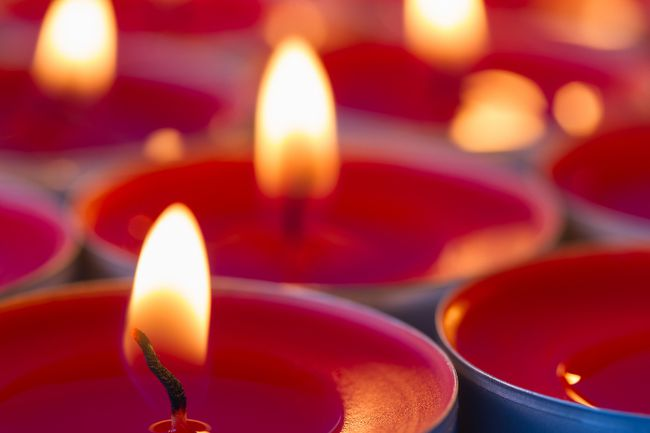 Candle Christmas holiday