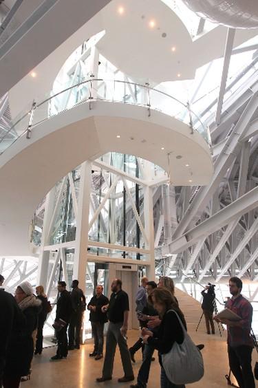 A sneak peek inside the Canadian Museum for Human Rights Jan. 10, 2014.