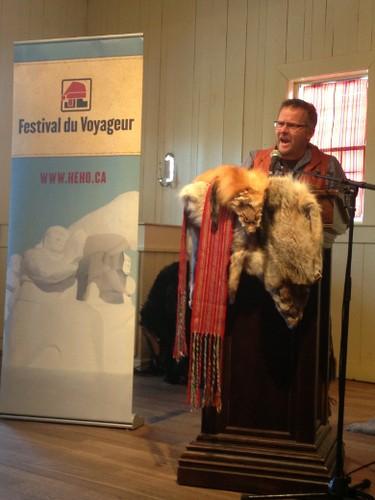 Festival du Voyageur vice-president Daniel Leclerc speaks at a press conference Tuesday, Jan. 14, 2013 to announce the 45th annual event. (DAVID LARKINS/Winnipeg Sun)