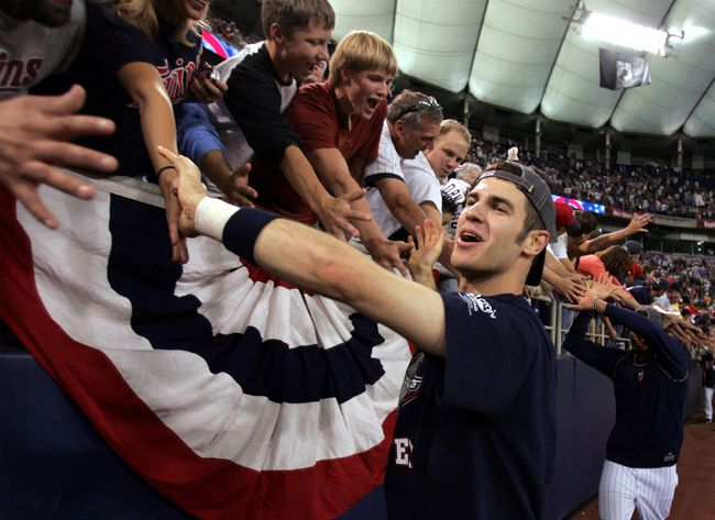 Minnesota Twins star Joe Mauer at the Metrodome in 2006. (Reuters)