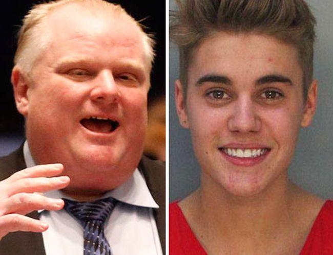 Rob Ford Justin Bieber