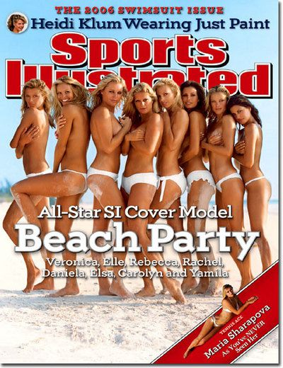 <p>Year: 2006</p>  <p>Model: Veronica Varekova, Elle Macpherson, Rebecca Romijn, Rachel Hunter, Daniela Pestova, Elsa Benitez, Carolyn Murphy, Yamila Diaz</p>