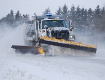 Norfolk County snow plow. (MONTE SONNENBERG / Simcoe Reformer)